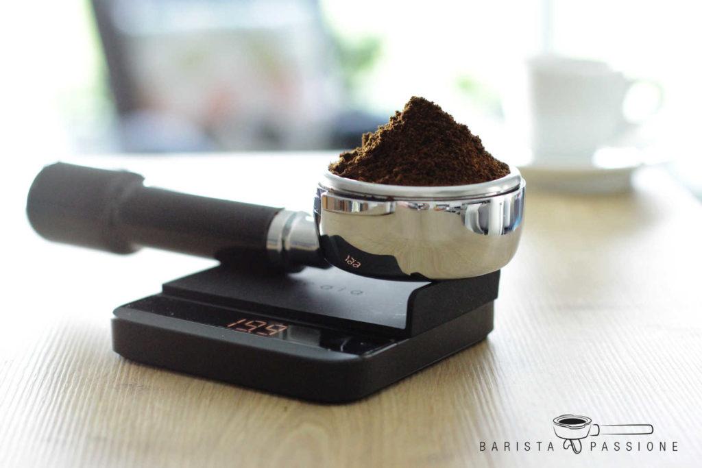 espresso wiegen mit einer digitalwaage