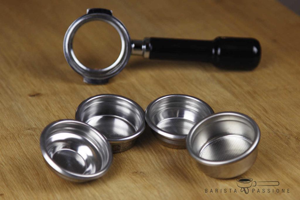espresso zubereiten: welches sieb passt für welche menge