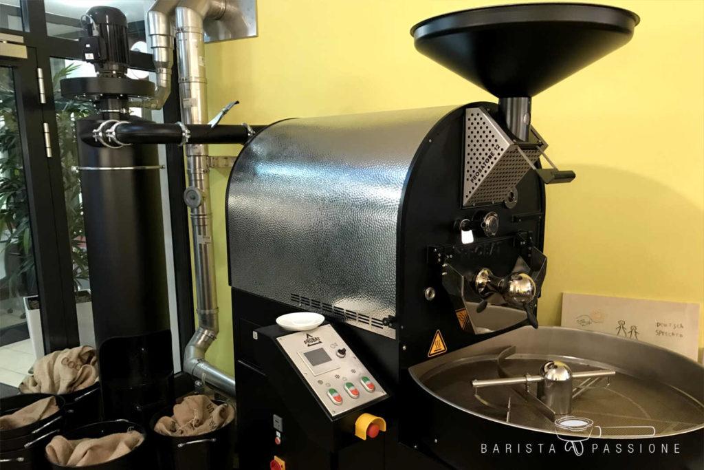 gute kaffeequalität durch schonende trommelröstung