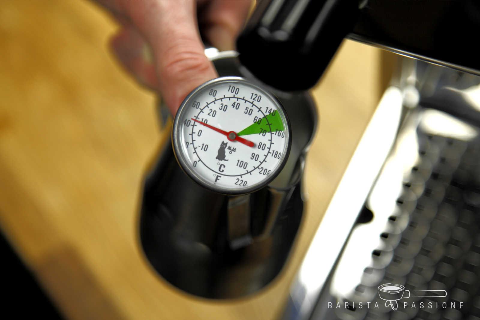 Thermometer Milchschaum Milchthermometer aus Edelstahl Motta