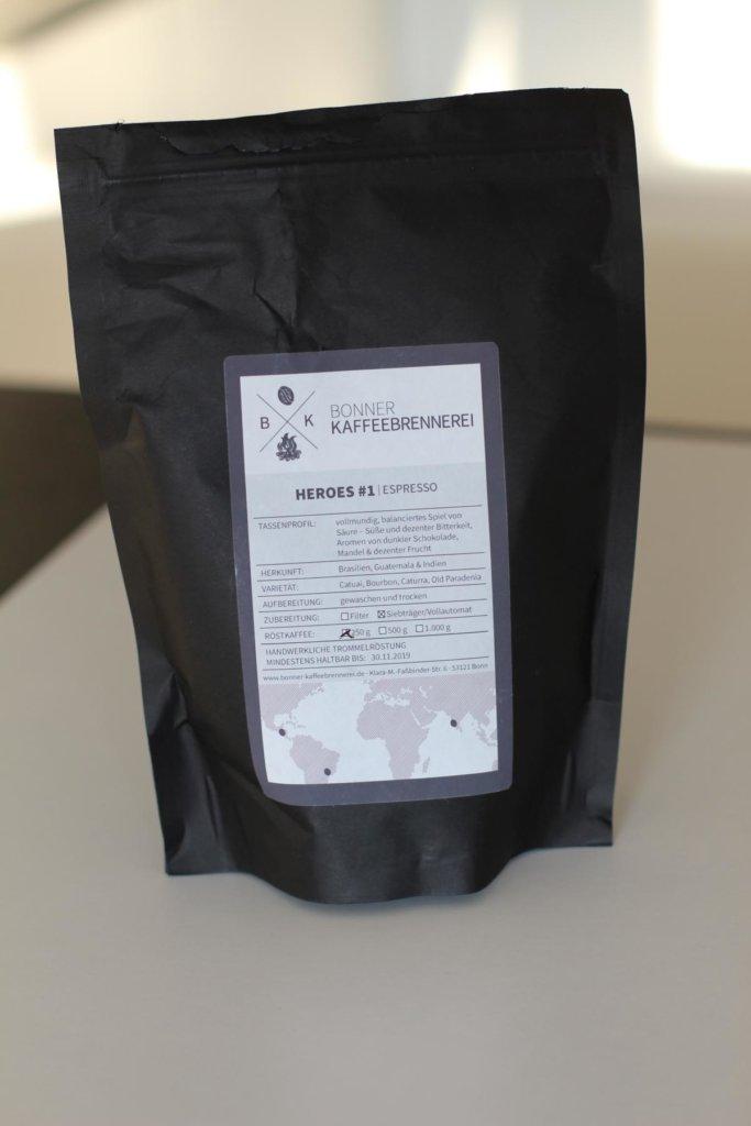 Im Espresso Test: Espresso von der Bonner Kaffeebrennerei